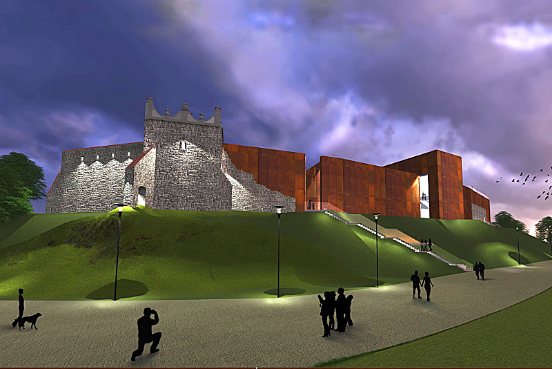 Propozycja odbudowy zamku w Nowym Sączu